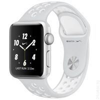 Умные часы Apple Watch Nike+ 38mm Silver with White Nike Sport Band [MQ172]