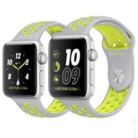 Умные часы Apple Watch Nike+ 38mm Silver with Flat Silver Volt Nike Band [MNYP2]