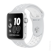 Умные часы Apple Watch Nike+ 42mm Silver with White Nike Sport Band [MQ192]