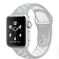 Умные часы Apple Watch Nike+ 38mm Silver with Flat Silver White Nike Band [MNNQ2]