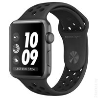 Умные часы Apple Watch Nike+ 38mm Space Gray with Black Nike Sport Band [MQ162]